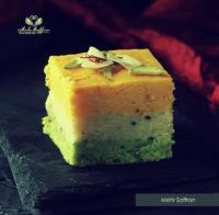 Almond Saffron Fudge - Mehr Saffron